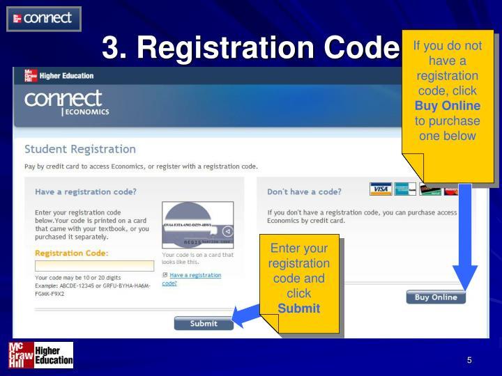 3. Registration Code