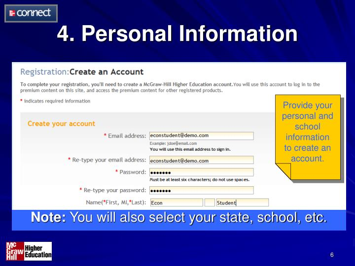 4. Personal Information