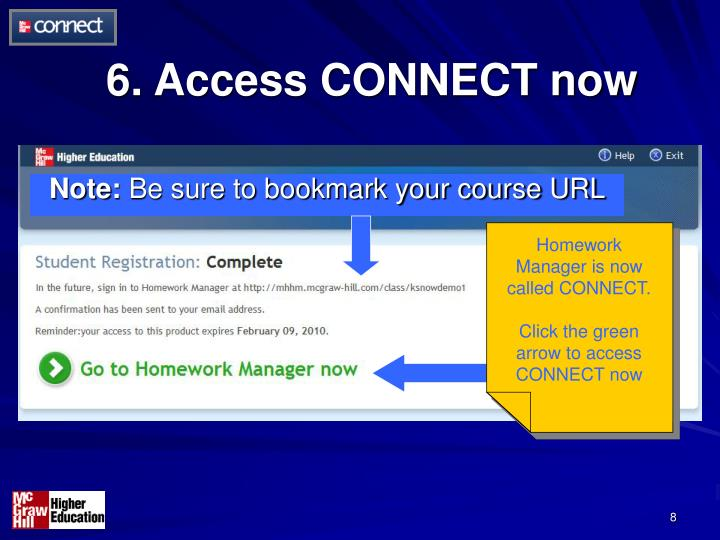 6. Access CONNECT now