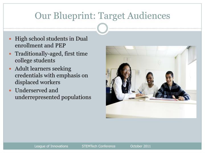 Our Blueprint: Target Audiences