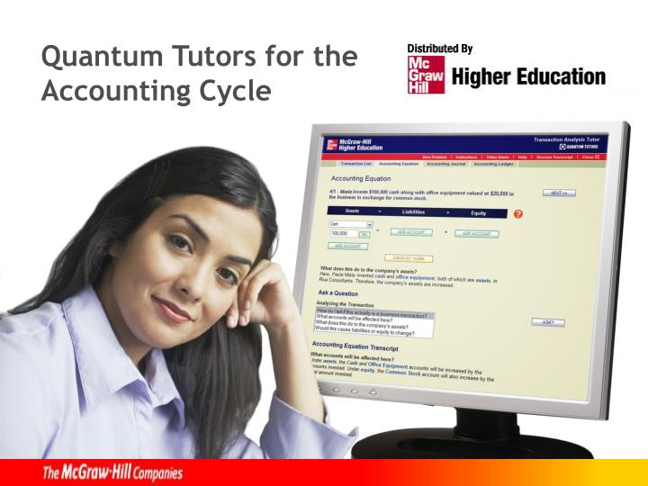 Quantum tutors for the accounting cycle