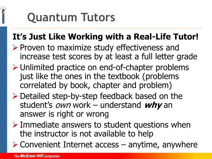Quantum Tutors