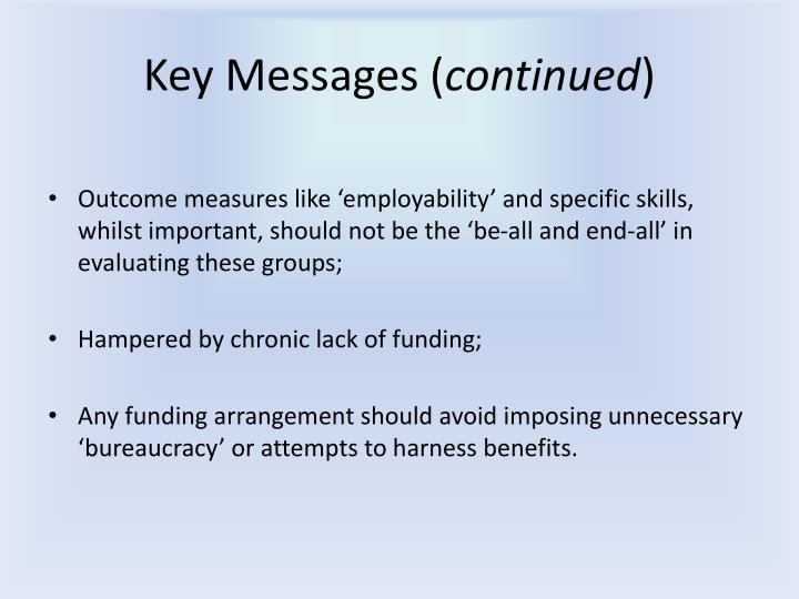 Key Messages (