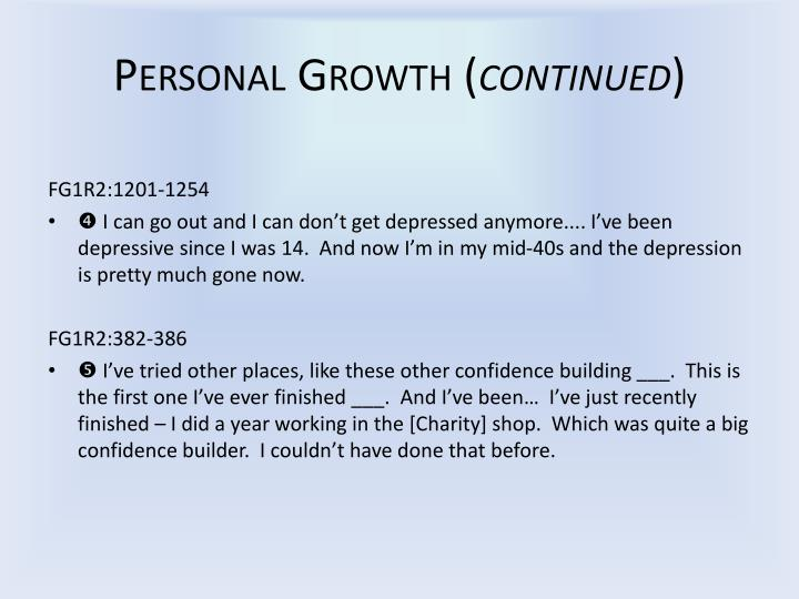Personal Growth (
