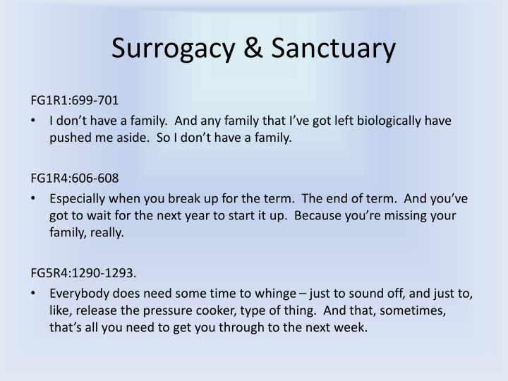 Surrogacy & Sanctuary