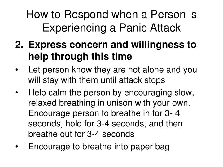 How to Respond when a Person is Experiencing a Panic Attack