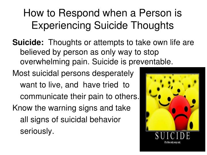 How to Respond when a Person is Experiencing Suicide Thoughts