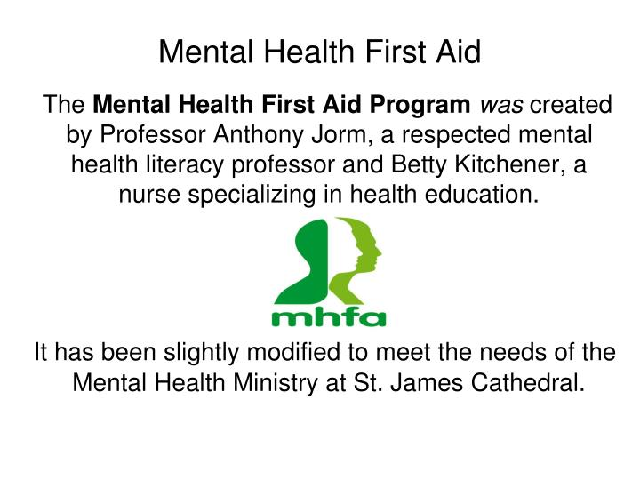 Mental health first aid1