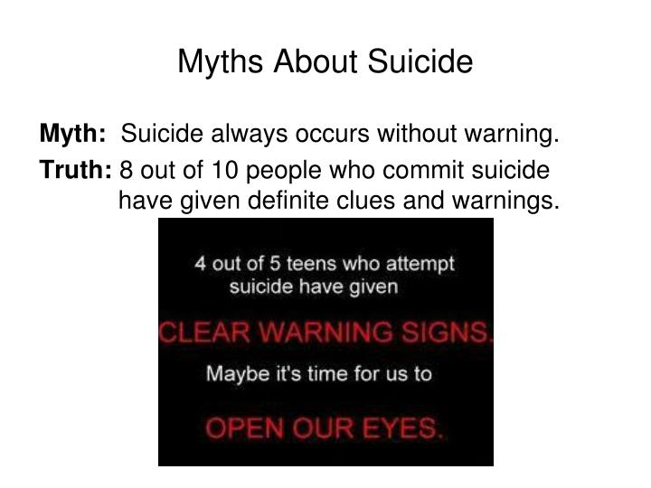 Myths About Suicide