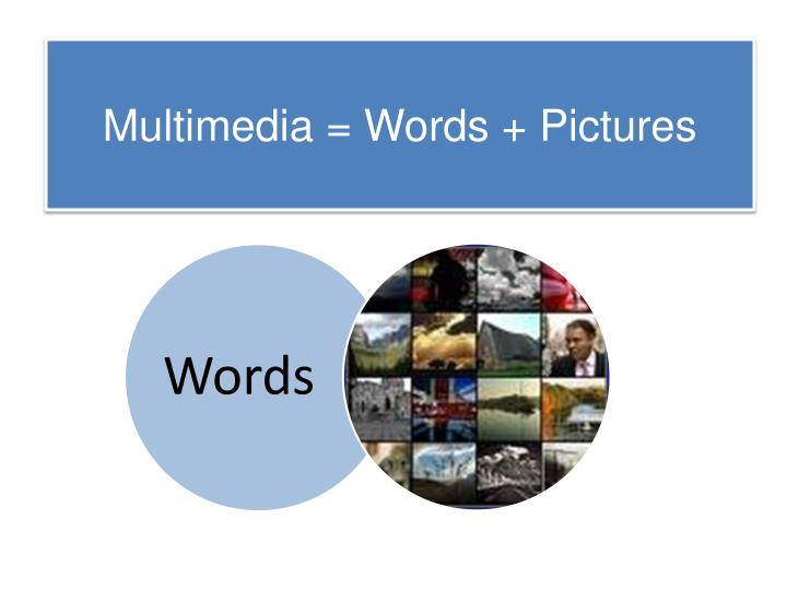 Multimedia = Words + Pictures