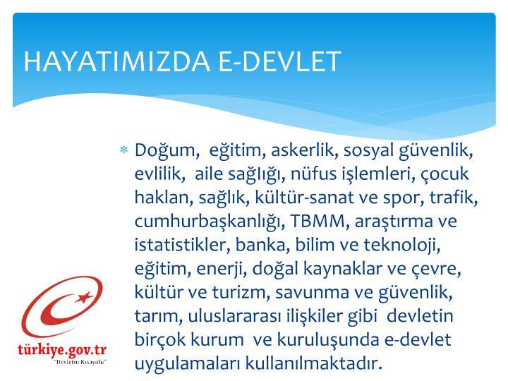HAYATIMIZDA E-DEVLET