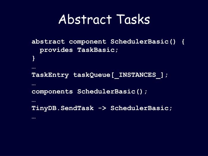 Abstract Tasks