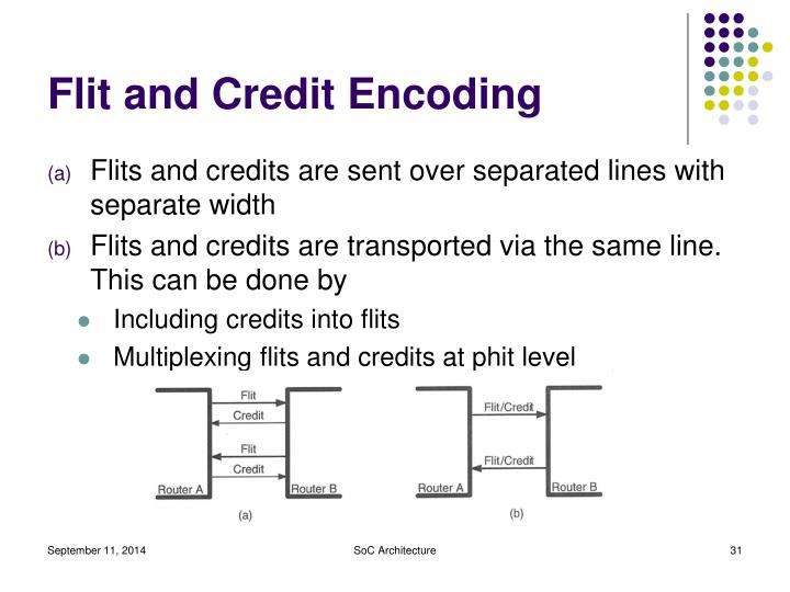 Flit and Credit Encoding