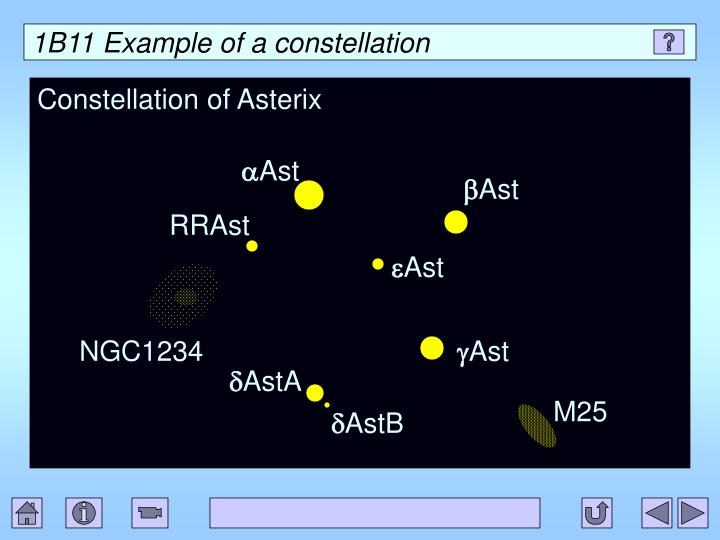 1B11 Example of a constellation
