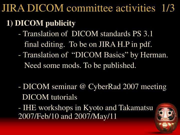 JIRA DICOM committee activities  1/3