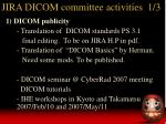 jira dicom committee activities 1 3