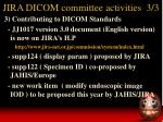jira dicom committee activities 3 3