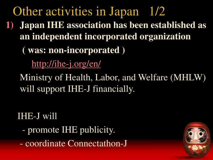 Other activities in Japan   1/2