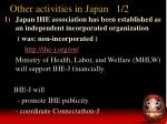other activities in japan 1 2