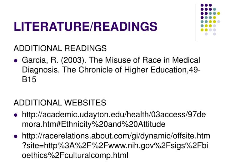LITERATURE/READINGS