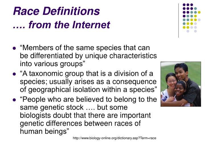 Race Definitions