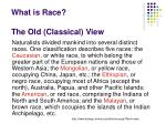 what is race the old classical view