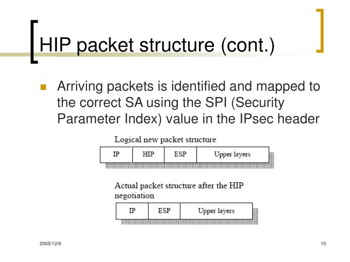 HIP packet structure (cont.)