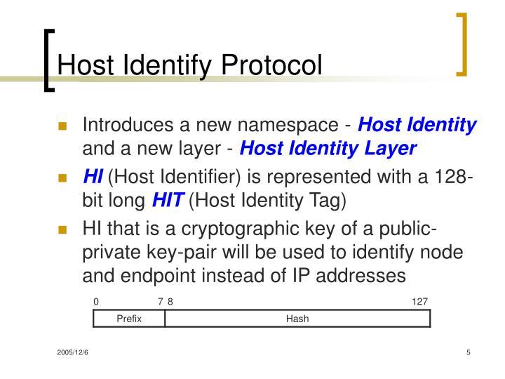 Host Identify Protocol