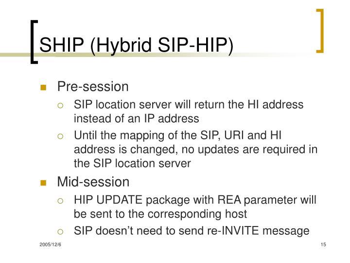 SHIP (Hybrid SIP-HIP)