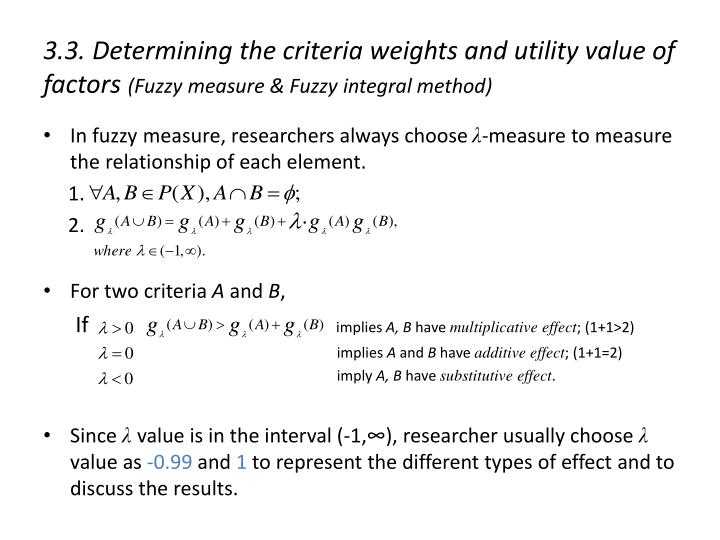3.3. Determining the criteria weights and utility value of factors