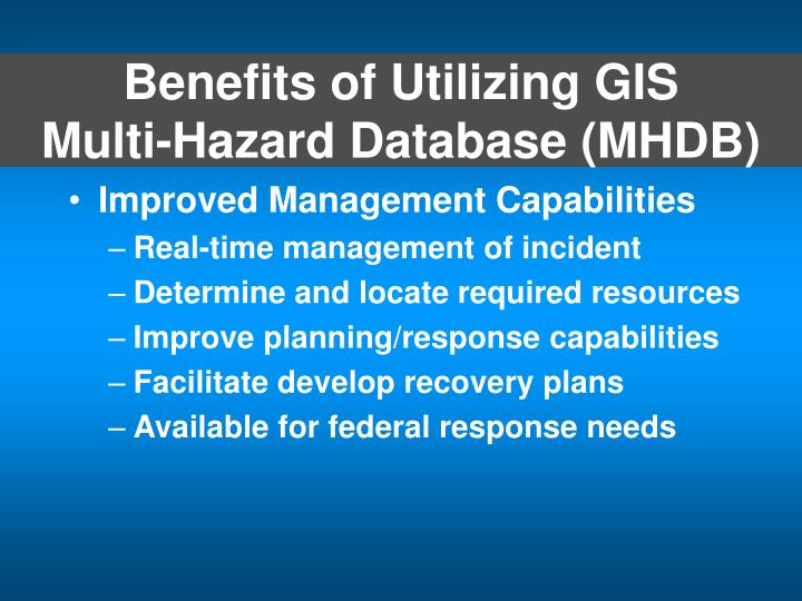 Benefits of Utilizing GIS