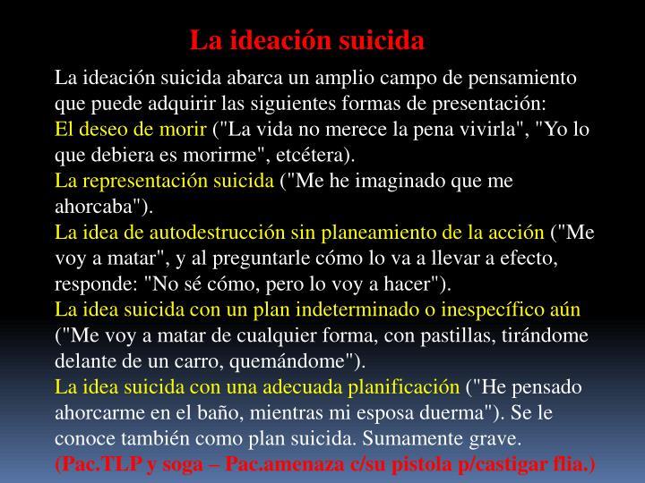 La ideación suicida