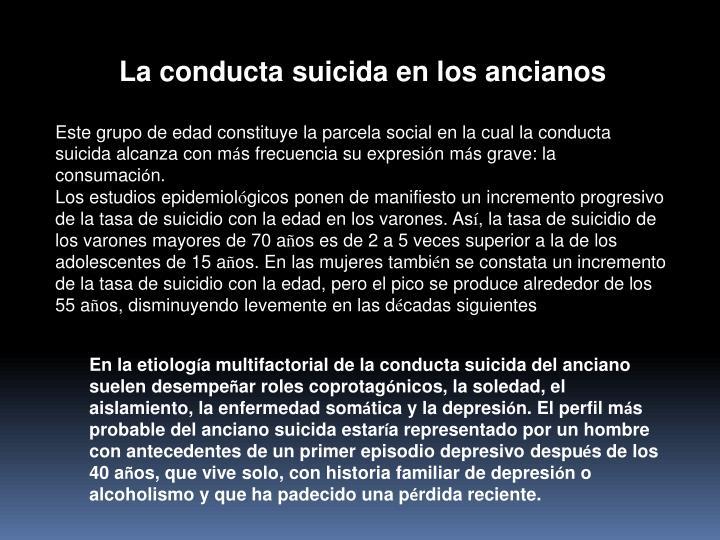 La conducta suicida en los ancianos