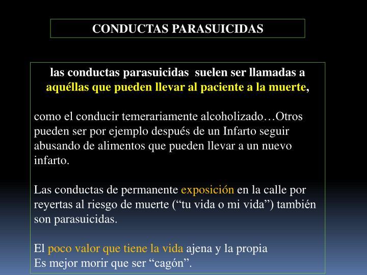 CONDUCTAS PARASUICIDAS