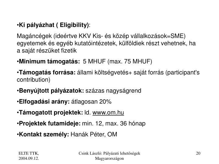 Ki plyzhat ( Eligibility)