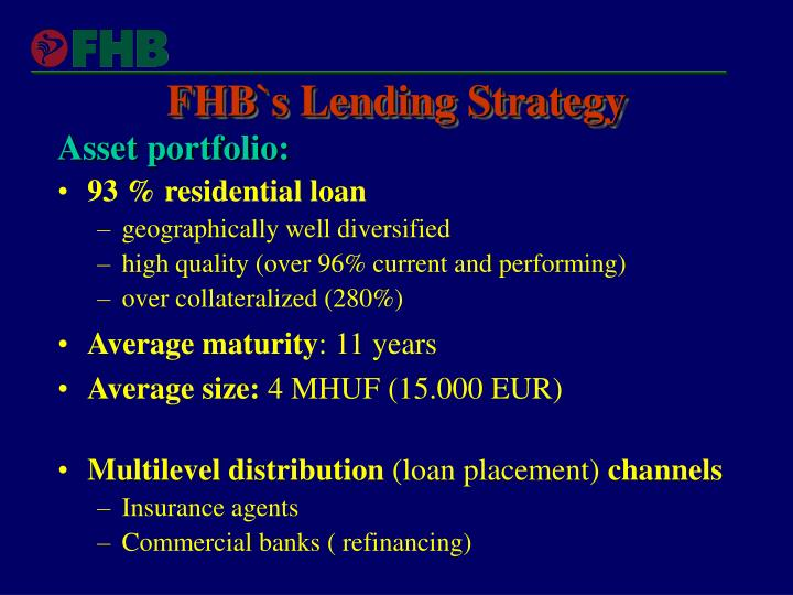 Ppt Fhb Potential Newcomer At Euro Cmb Markets
