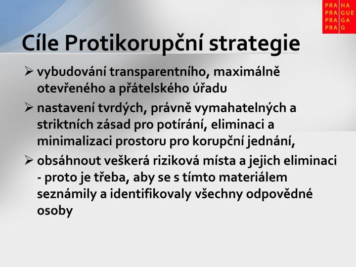 Cíle Protikorupční