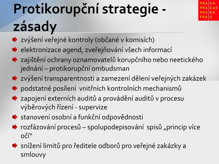 Protikorupční strategie - zásady