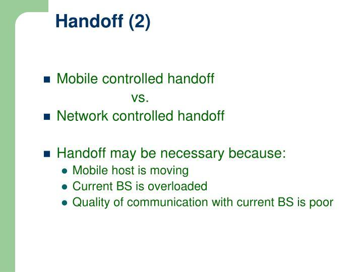 Handoff (2)