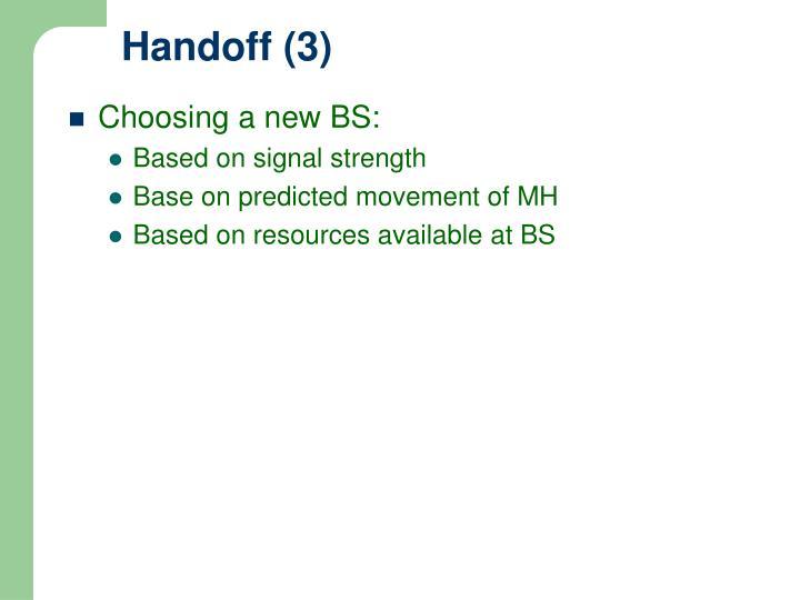 Handoff (3)