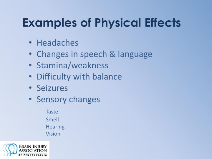 Examples of Physical Effects