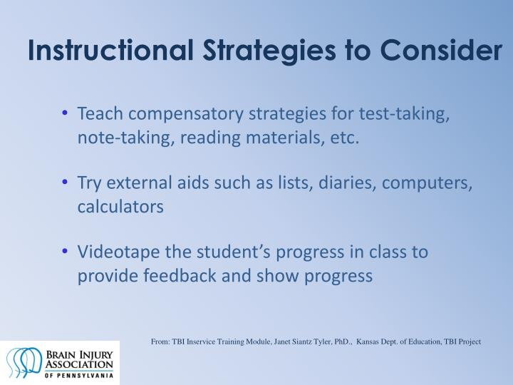 Instructional Strategies to Consider