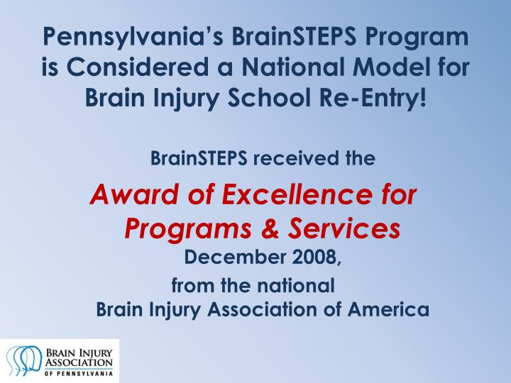Pennsylvania's BrainSTEPS Program