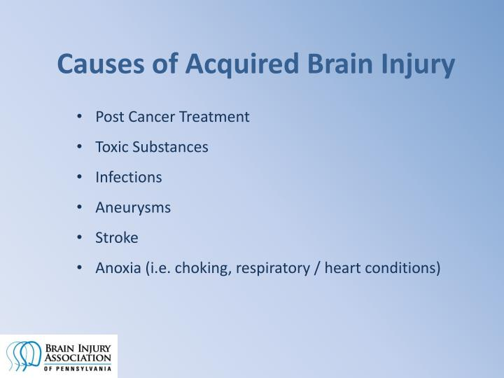 Causes of Acquired Brain Injury