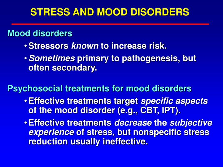 STRESS AND MOOD DISORDERS