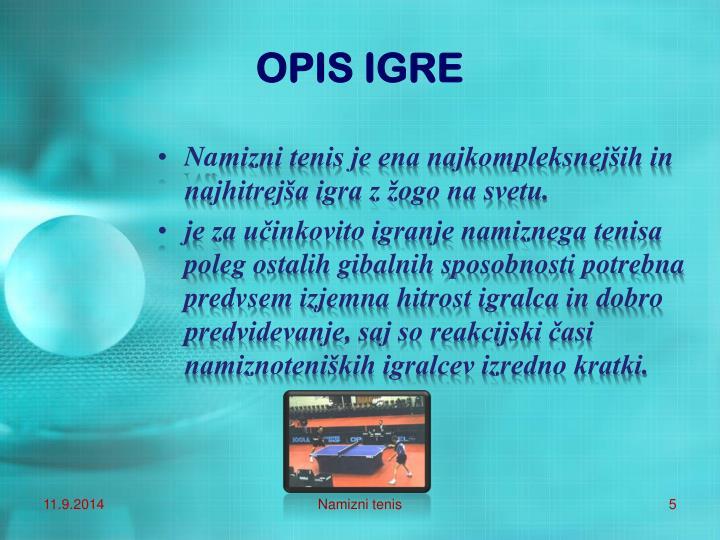 OPIS IGRE