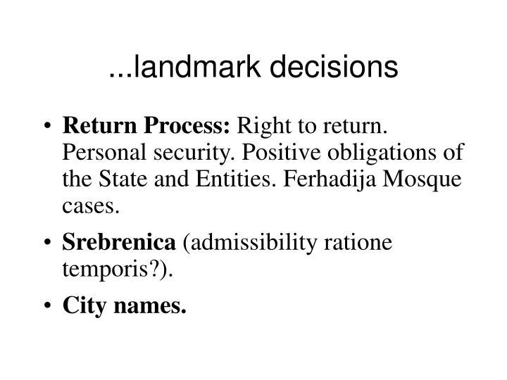 ...landmark decisions