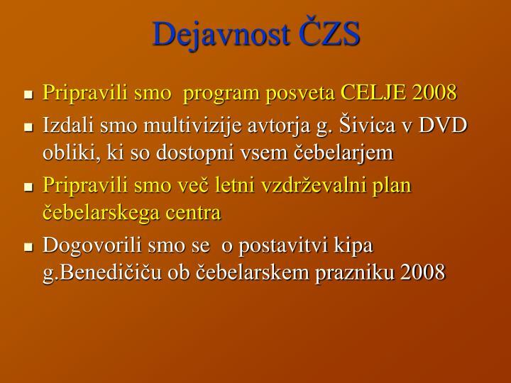 Dejavnost ČZS