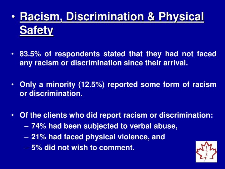 Racism, Discrimination & Physical Safety
