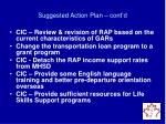suggested action plan cont d2